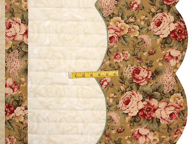 King Burgundy Moss Green and Gold Spring Basket Quilt Photo 7