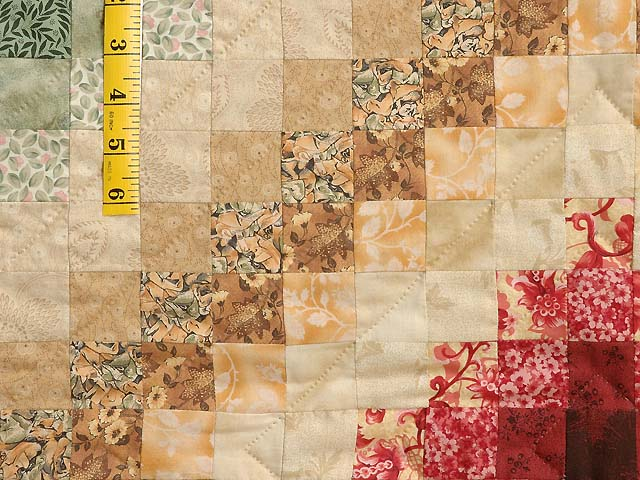 King Green Burgundy and Gold Color Splash Quilt Photo 5