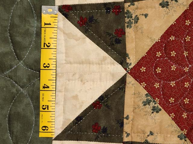 Green Burgundy and Tan Patchwork Sampler Quilt Photo 6