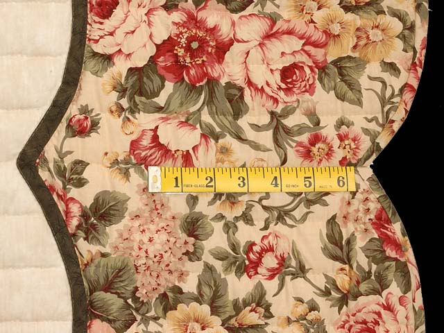 Tan Burgundy Rose and Moss Lancaster Treasures Quilt Photo 7
