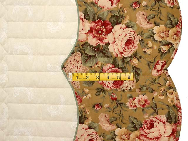 King Red Moss and Gold Heart of Roses Quilt Photo 7