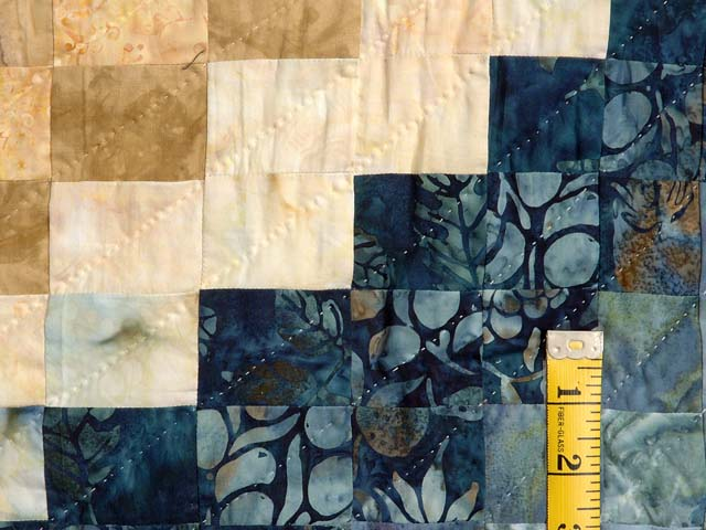 King Blues Bronze and Gold Bargello Wave Quilt Photo 6