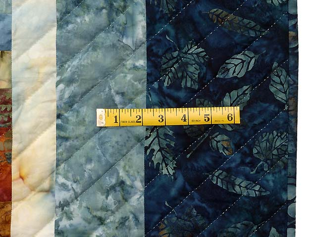King Blues Bronze and Gold Bargello Wave Quilt Photo 7