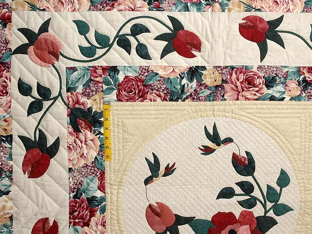 King Rose and Green I Promised You a Rose Garden Quilt Photo 4