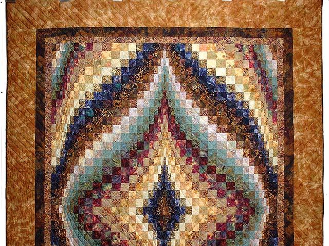Hand Painted Diamond Bargello Quilt Photo 2
