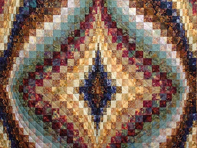 Hand Painted Diamond Bargello Quilt Photo 3