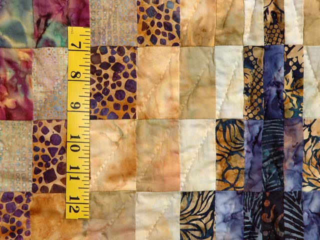 Hand Painted Diamond Bargello Quilt Photo 5