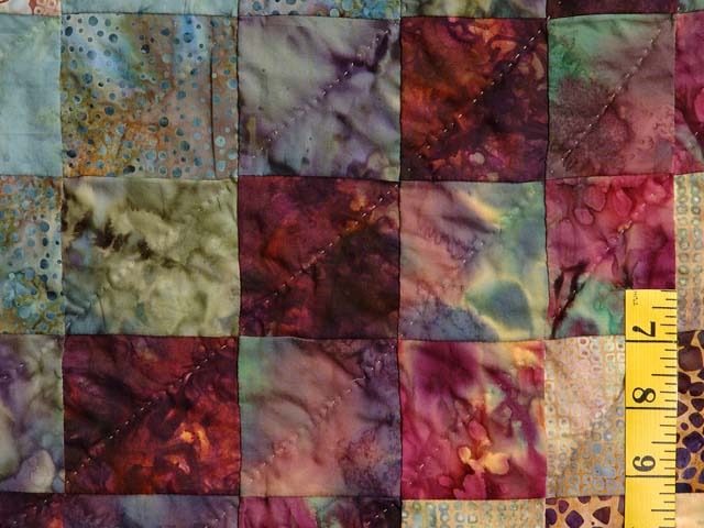 Hand Painted Diamond Bargello Quilt Photo 6