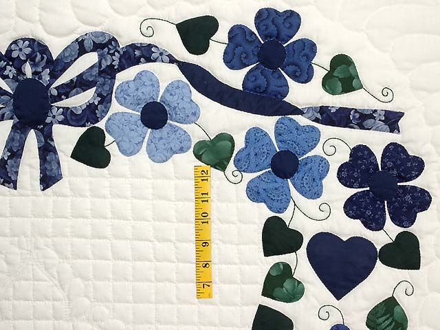 Navy and Blue Heart Bouquet Quilt Photo 5