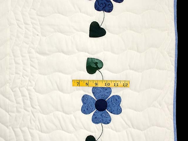 Navy and Blue Heart Bouquet Quilt Photo 7