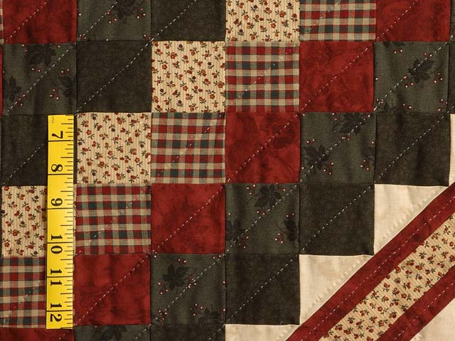 Dark Green Red and Tan Extra Fine Lone Star Trip Quilt Photo 6