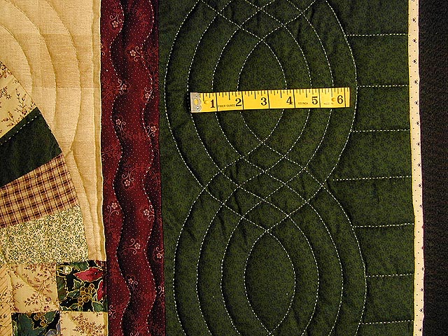 Green And Burgundy Jacobs Ladder Quilt Photo 6