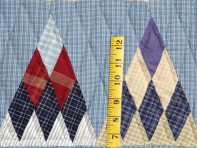 Plaid Navy Blue and Multi Thousand Pyramids Quilt Photo 5
