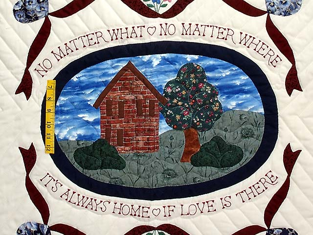 Home Sweet Home Quilt -- great carefully made Amish Quilts from ... : home quilts - Adamdwight.com