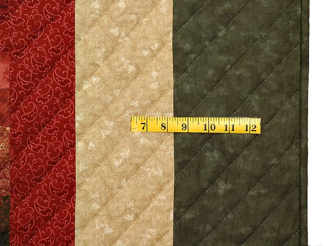 Coral Moss and Tan Bargello Wave Quilt Photo 7