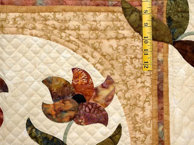 King Neutrals Gold and Mauve Rainbow Reflections Quilt Photo 5