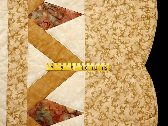 King Neutrals Gold and Mauve Rainbow Reflections Quilt Photo 7
