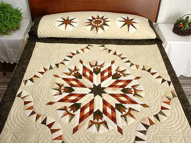 Sage Rust and Gold Sunday Quilt Photo 1