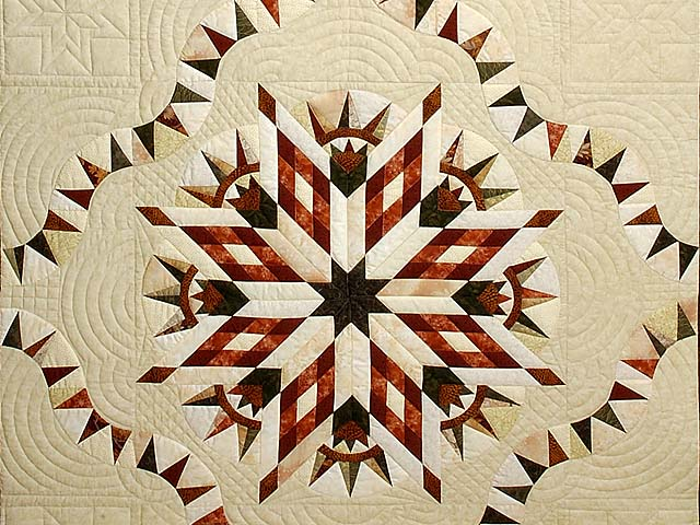 Sage Rust and Gold Sunday Quilt Photo 3