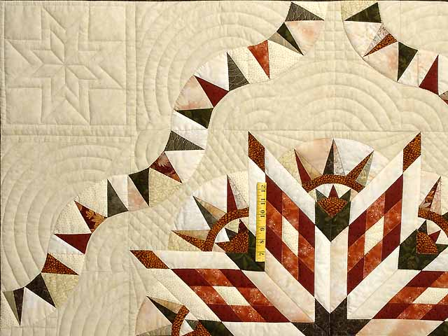 Sage Rust and Gold Sunday Quilt Photo 4