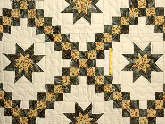 Marble and Gold Star Irish Chain Quilt Photo 4