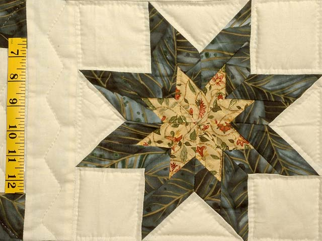Marble and Gold Star Irish Chain Quilt Photo 5