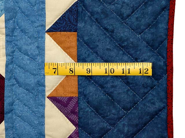 Blue and Multicolor Starry Night Quilt Photo 6