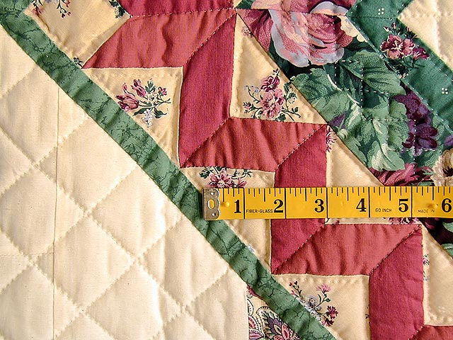 Green and Rose Garden Basket Applique Quilt Photo 5