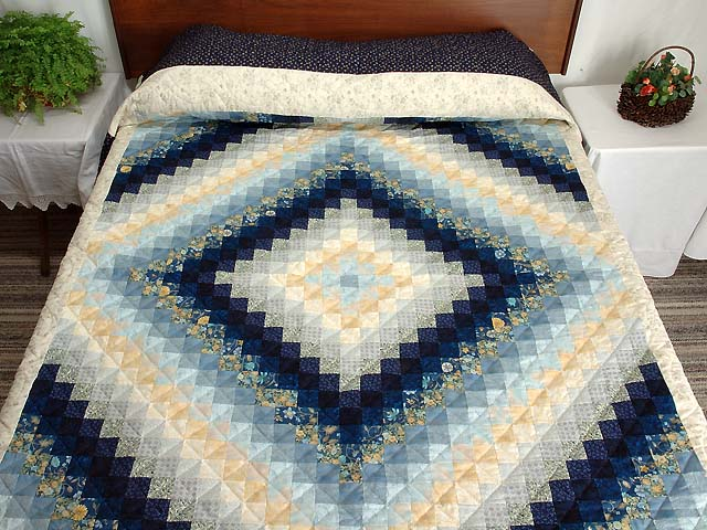 Navy and Gold Color Splash Quilt Photo 1