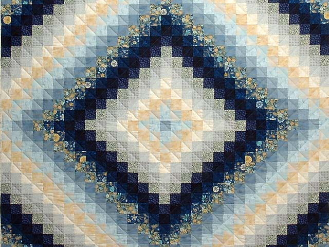 Navy and Gold Color Splash Quilt Photo 3