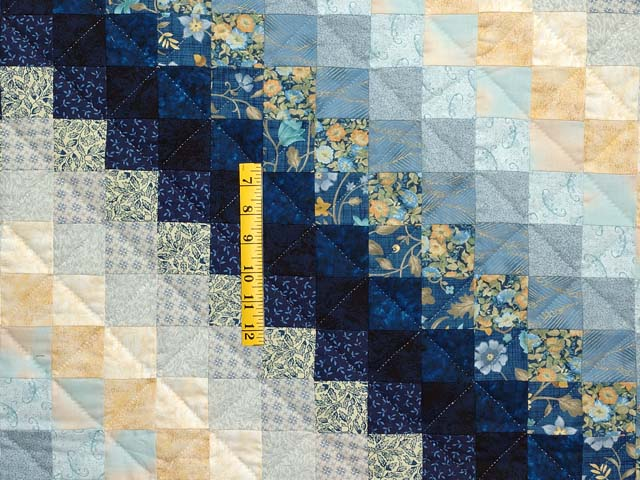 Navy and Gold Color Splash Quilt Photo 4