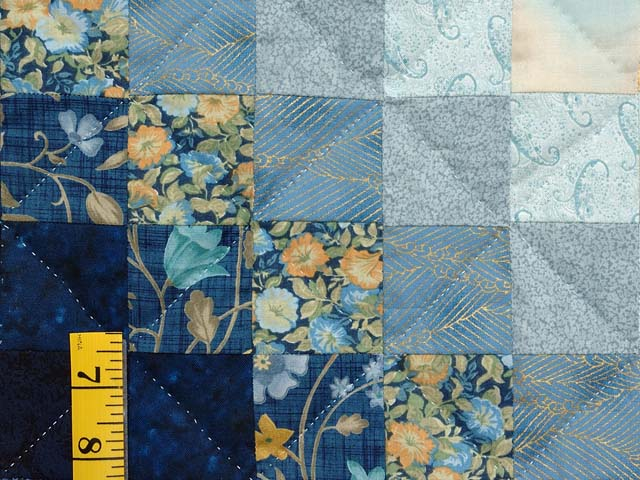 Navy and Gold Color Splash Quilt Photo 5