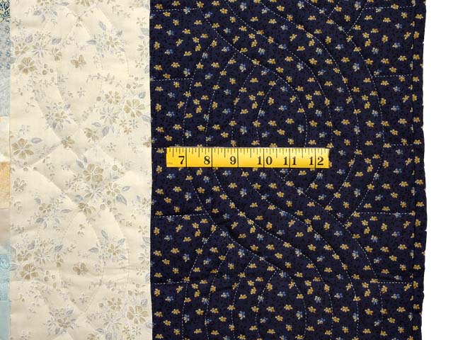 Navy and Gold Color Splash Quilt Photo 7