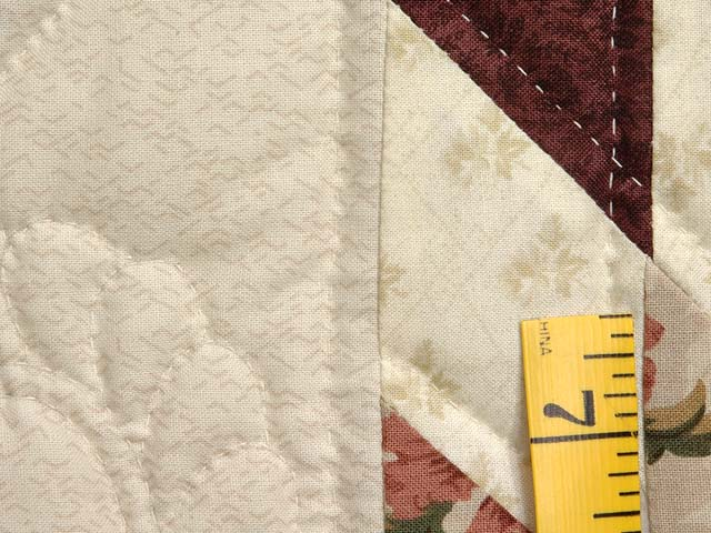 King Green Cream and Burgundy Lone Star Log Cabin Quilt Photo 6