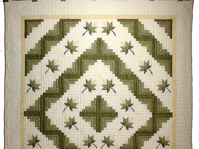 Green Gold and Yellow Cabin Splendor  Quilt Photo 2