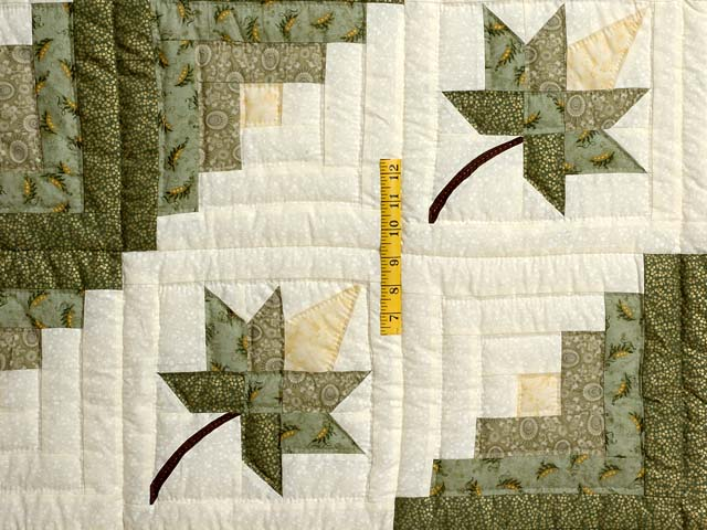 Green Gold and Yellow Cabin Splendor  Quilt Photo 4