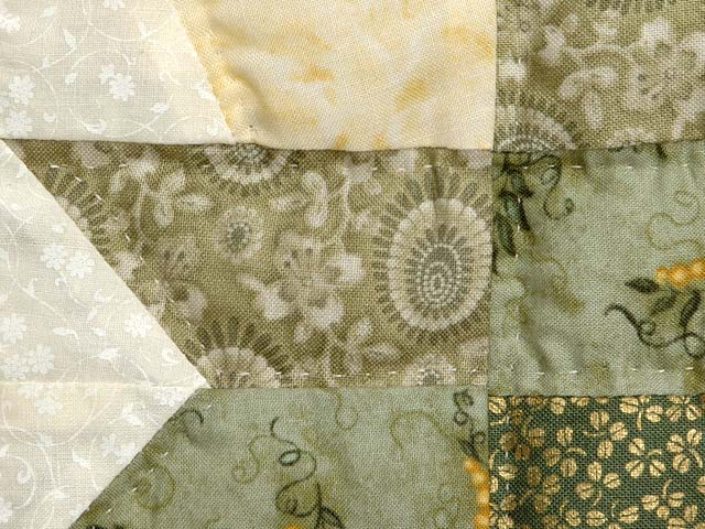 Green Gold and Yellow Cabin Splendor  Quilt Photo 6