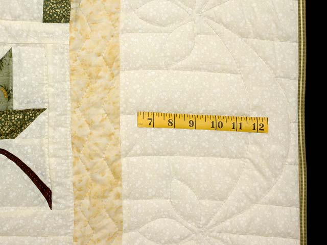Green Gold and Yellow Cabin Splendor  Quilt Photo 7