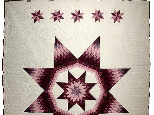 Plum and Lavender Royal Star of Maryland Quilt Photo 2