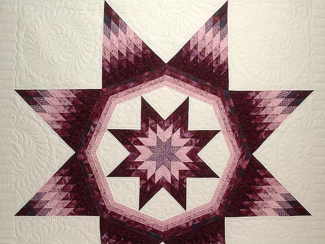 Plum and Lavender Royal Star of Maryland Quilt Photo 3