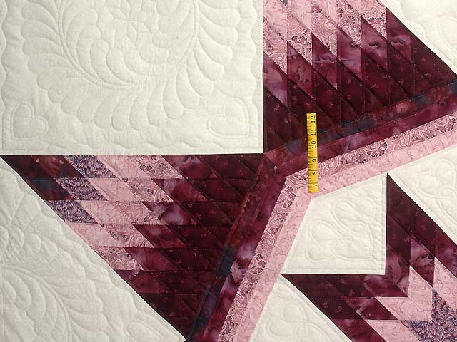 Plum and Lavender Royal Star of Maryland Quilt Photo 4