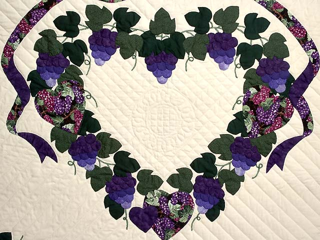 Purple and Green Love in the Vineyard Quilt Photo 4