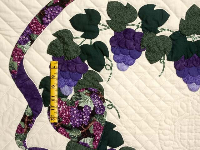 Purple and Green Love in the Vineyard Quilt Photo 5