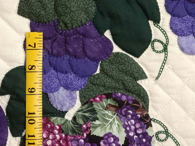 Purple and Green Love in the Vineyard Quilt Photo 6