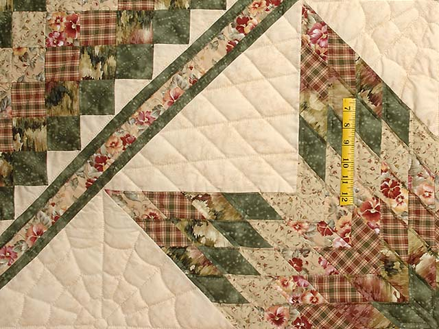 King Green Rose and Tan Lone Star Trip Quilt Photo 4
