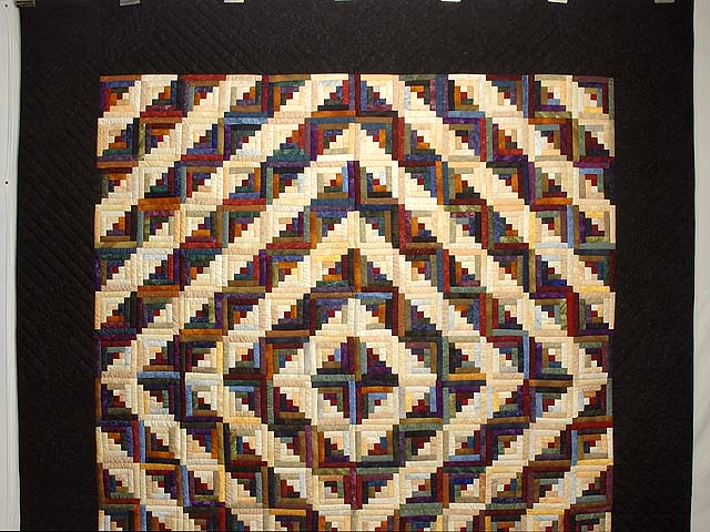 Batik Log Cabin Quilt Photo 2