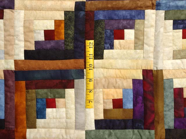 Batik Log Cabin Quilt Photo 5