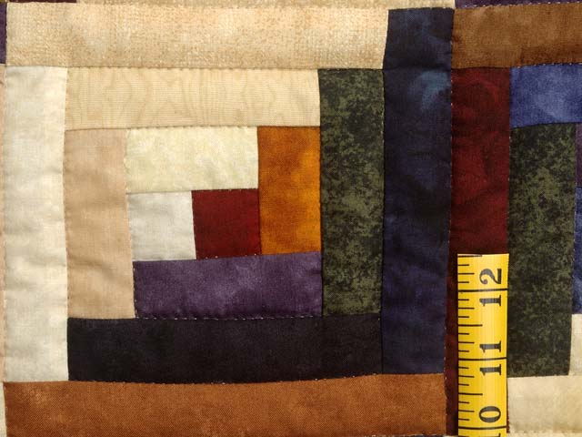 Batik Log Cabin Quilt Photo 6
