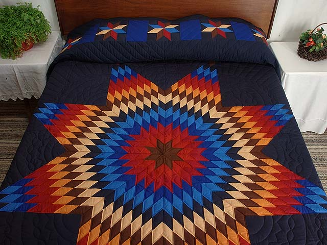 Amish Radiant Lone Star Quilt Photo 1