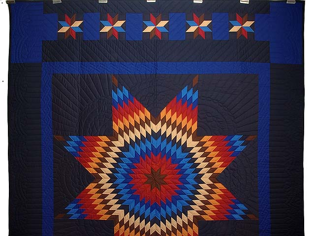 Amish Radiant Lone Star Quilt Photo 2